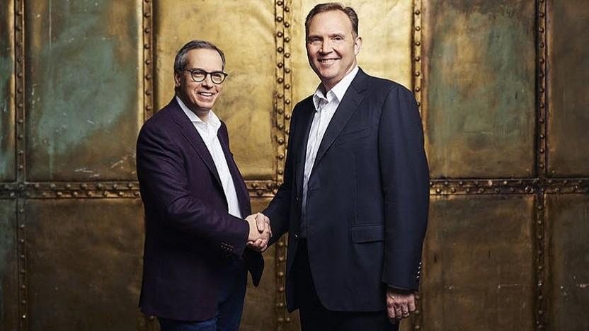 Michael Valocchi, IBM (links), und Greg Hyttenrauch, Vodafone Business, werden das neue Unternehmen zusammen leiten.