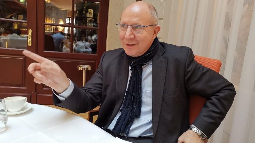 Hartmut Kremling im Januar 2019 im Gespräch mit Golem.de