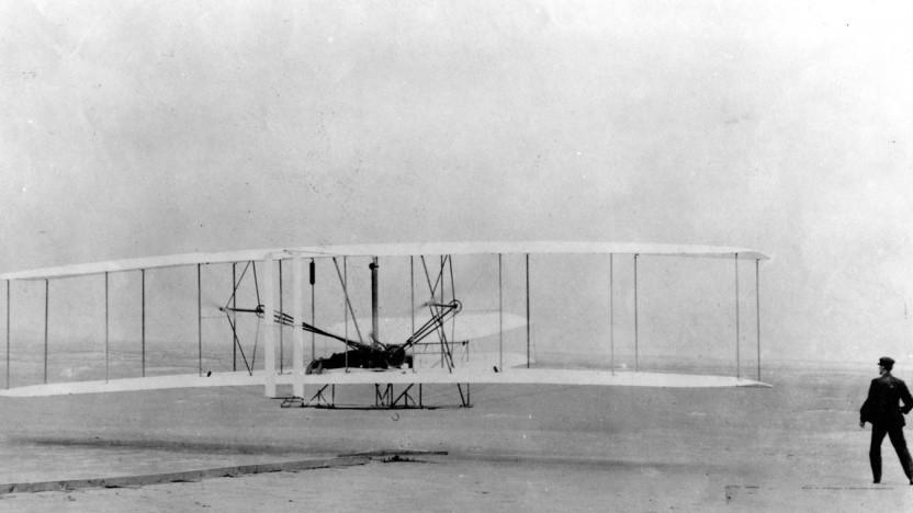 Austin Meyer will mit seinem neuen Flugzeugdesign genauso innovativ sein wie die Gebrüder Wright mit ihrem ersten Motorflugzeug. (Symbolbild)