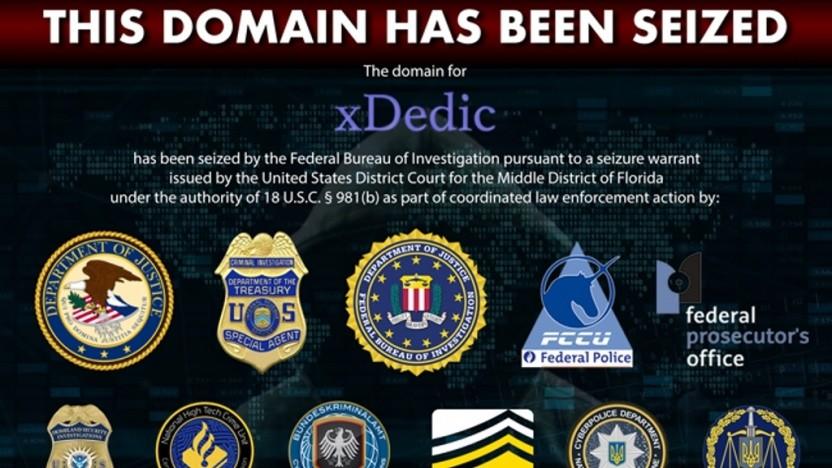 Domain und Server von xDedic wurden beschlagnahmt.