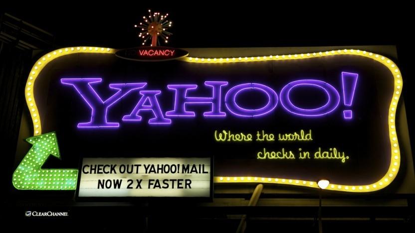 Werbung aus einer Zeit, als Yahoo noch nicht durch Datenlecks in Verruf geraten war
