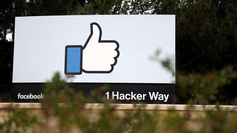 Proteste an Facebooks Hauptsitz in Menlo Park, Kalifornien