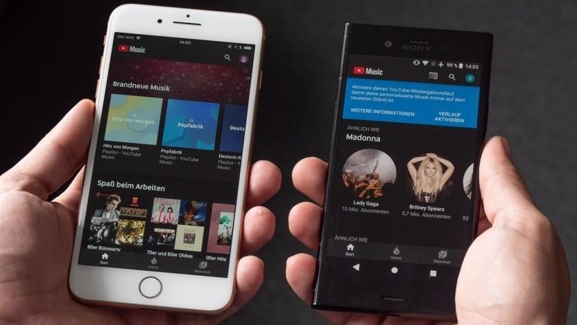 Youtube Music läuft auf Sonos-Lautsprechern.