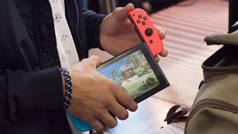Nintendo Switch unterwegs im Einsatz