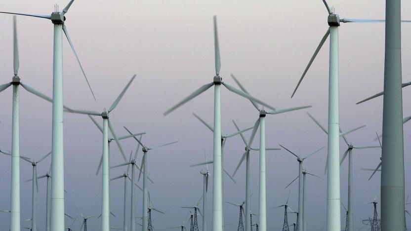 Windpark (Symbolbild): Wenn die Windräder größer werden, steigen die Kosten überproportional.