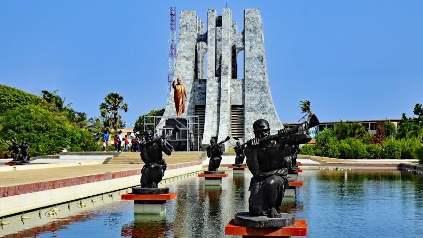 Das Kwame-Nkrumah-Mausoleum ist ein Wahrzeichen von Accra, der Hauptstadt Ghanas.