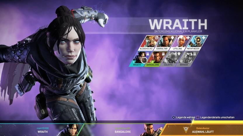 Wraith ist eine Heldin in Apex Legends.