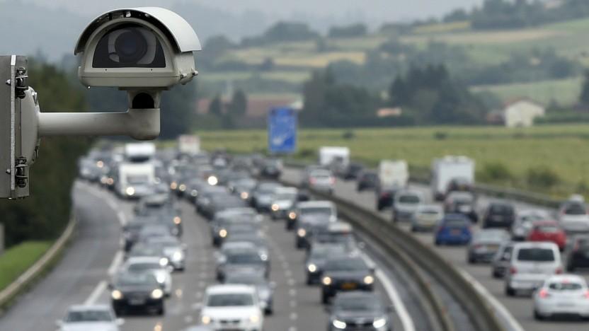 Kameraüberwachung einer Autobahn (Symbolbild)
