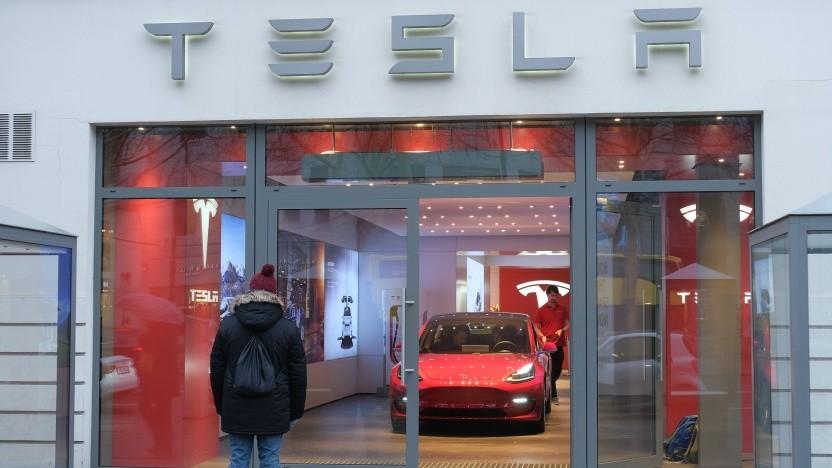 Model 3 in der Berliner Tesla-Niederlassung