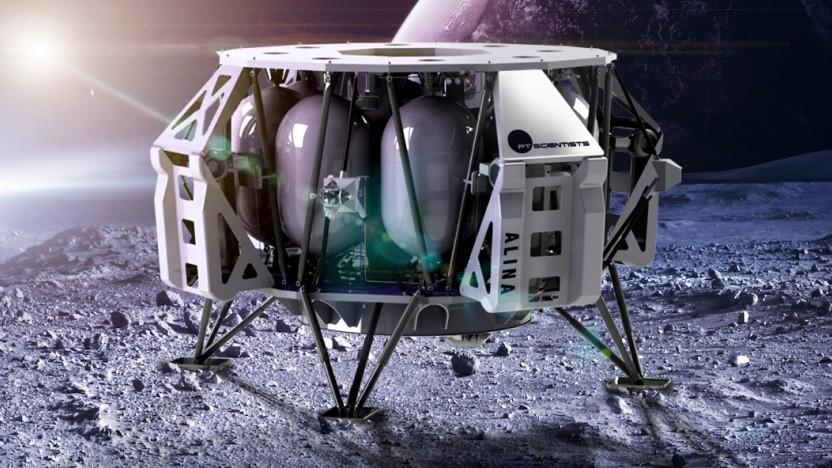 Die Landefähre Alina soll zuerst einen Rover und später die Esa-Mission auf den Mond bringen.