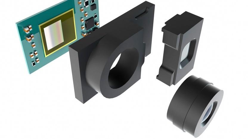 Ein Modell der ToF-Frontkamera, die im G8 Thinq zum Einsatz kommen wird