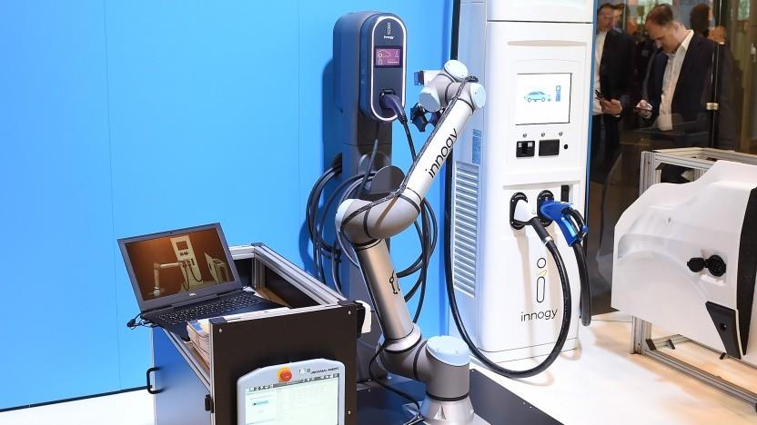 Laderoboter von Innogy: Die nächste Generation wird mobil.