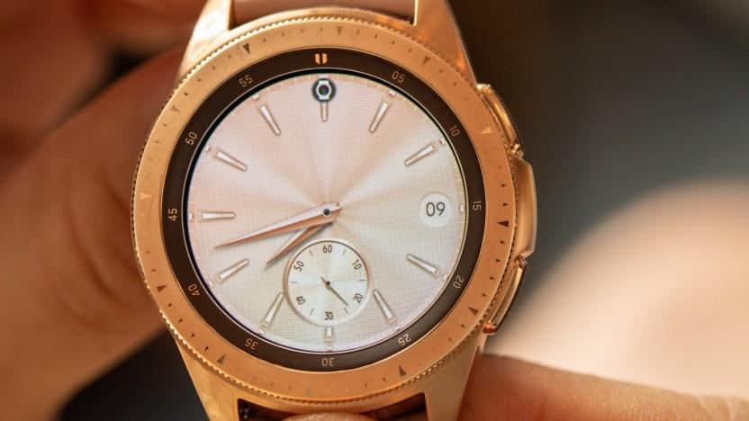 Das Vorgängermodell Galaxy Watch hat eine drehbare Lünette, mit der die Uhr gesteuert werden kann.