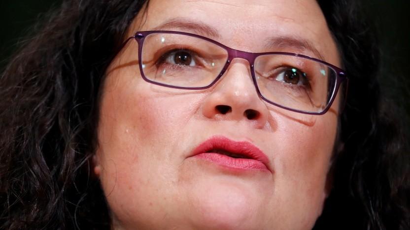 SPD-Chefin Andrea Nahles will Datenmonopole verhindern.