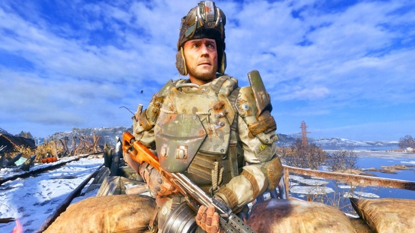 Einer der Soldaten in Metro Exodus (Artjom selbst ist auch im Fotomodus nicht zu sehen)