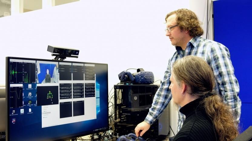 Werkzeug zur Analyse des Verhaltens von Probanden in Bewerbungsgesprächen: Computer-gestütztes System soll Gefühle eines Menschen simulieren.