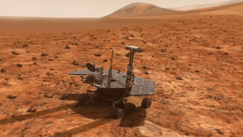 Der Marsrover Opportunity untersuchte seit 2004 den Mars.