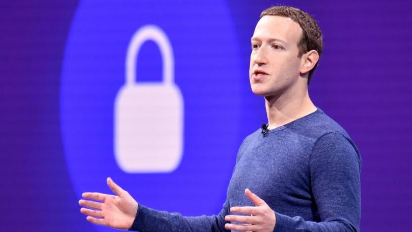 Facebook-Chef Mark Zuckerberg auf einer Konferenz