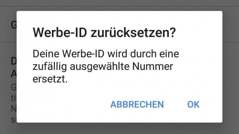 Das Zurücksetzen der Werbe-ID hilft bei vielen Android-Apps offenbar wenig.