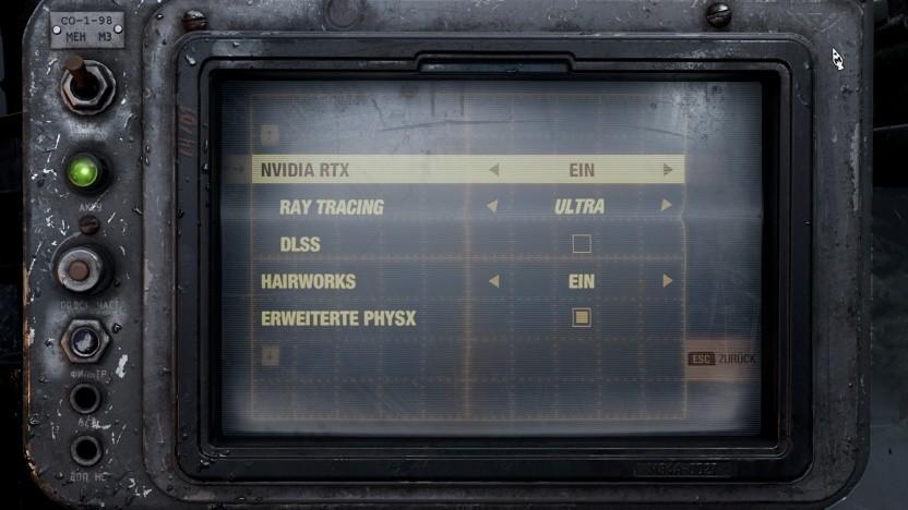 DLSS im Grafikmenü von Metro Exodus