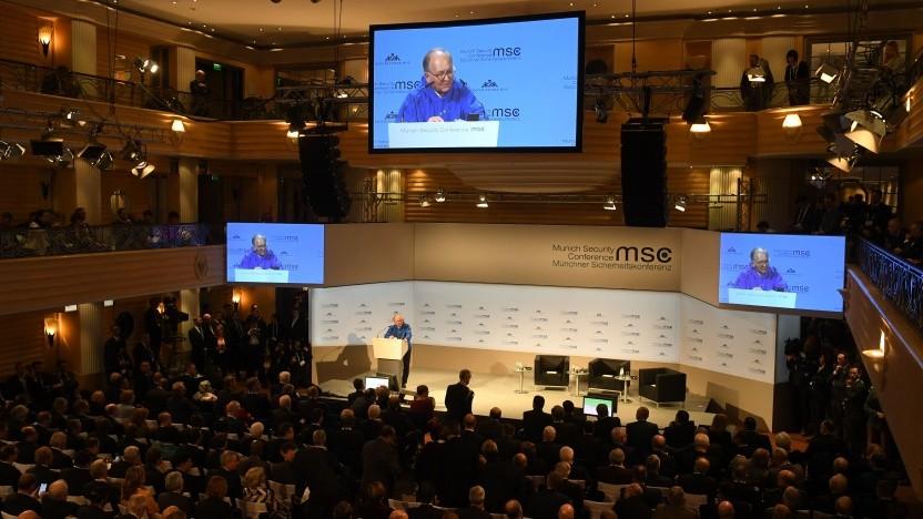 Vortragssaal der Münchner Sicherheitskonferenz 2019