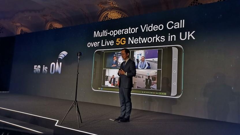 Live-Videocall in Grobritannien zwischen drei Netzen