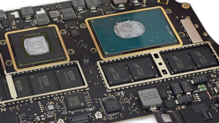 Intel-Prozessor in einem Macbook Pro