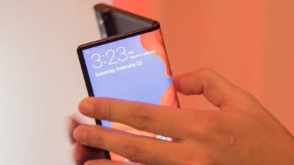 Die erste Version des Mate X von Huawei