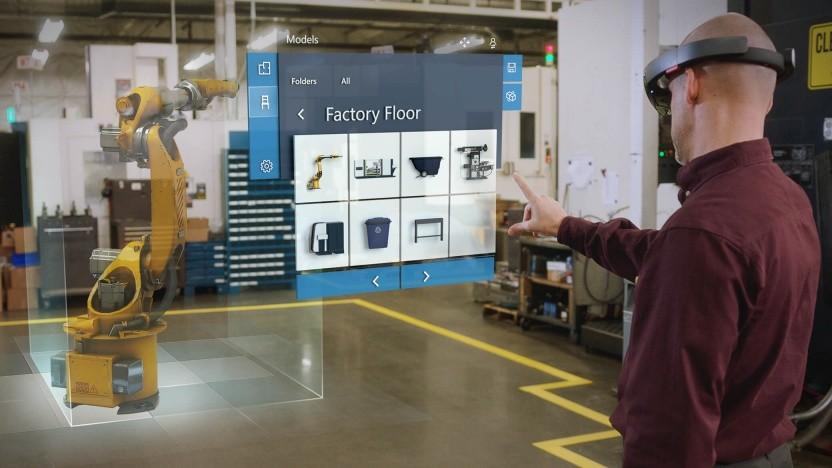 Microsoft bewirbt die Hololens vor allem für den Industrieeinsatz.