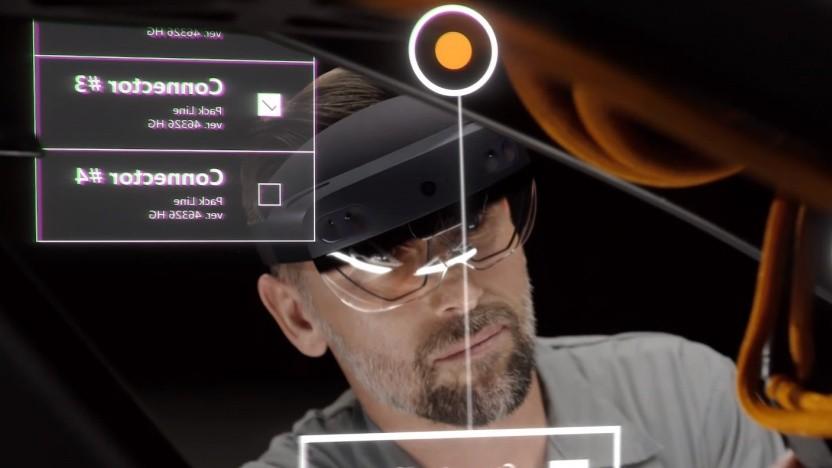 Hololens 2 ist leichter als der Vorgänger.