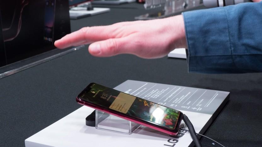 LGs G8 Thinq kann über Luftgesten gesteuert werden.