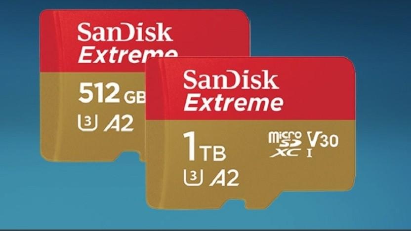 Sandisk baut seine MicroSD-Karten auch mit 512 GByte.