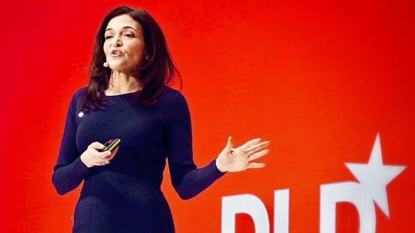 Sheryl Sandberg auf dem DLD 2019 in München