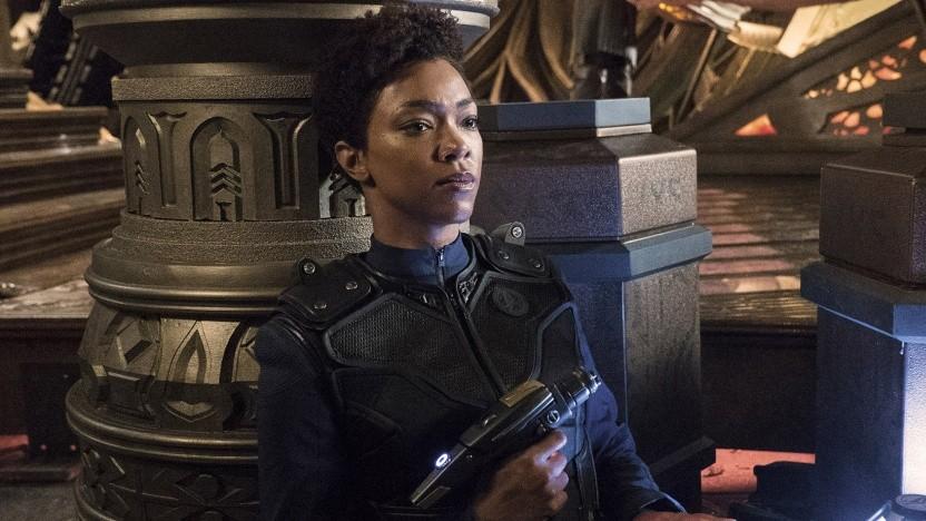 Darf auch in einer dritten Staffel wieder zum Phaser greifen: Sonequa Martin-Green als Michael Burnham