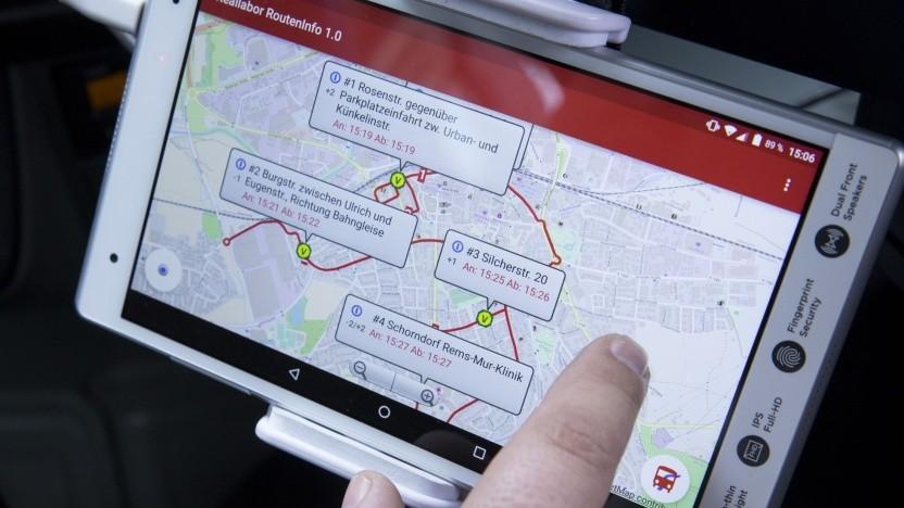 App für Busfahrer im Reallabor Schorndorf: Jede Fahrt war anders.