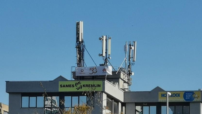 5G-Antennen von Huawei im Netz von Vodafone in Barcelona