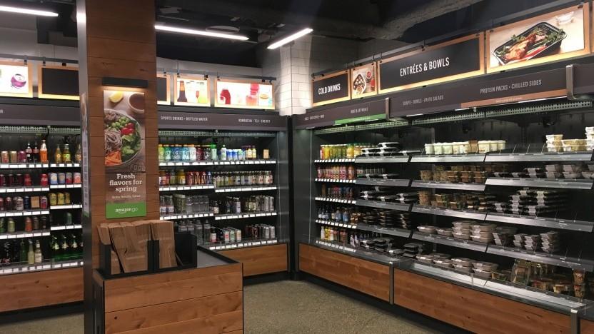 In den USA betreibt Amazon auch die vollautomatisierten Amazon-Go-Supermärkte.