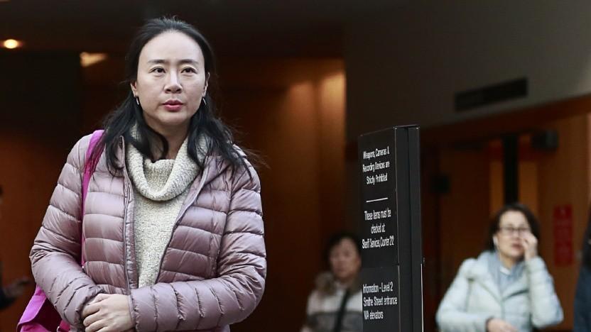 Meng Wanzhou bei ihrer Kautionsverhandlung