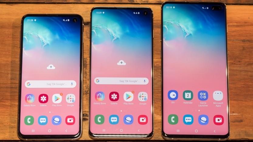 Die drei neuen Galaxy-S10-Modelle von Samsung