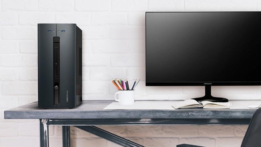 Der Desktop-PC ist schlicht und kompakt.