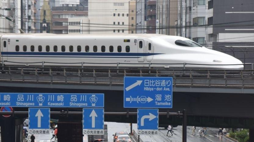 Ein Shinkansen der Baureihe N700