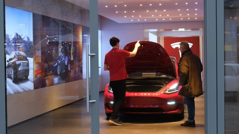 Tesla-Shop in Berlin