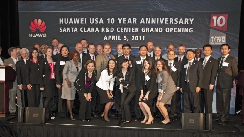Beschäftigte von Huawei USA im Jahr 2011