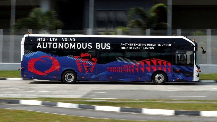 Autonomer Elektrobus von Volvo: mit autonomen Fahrzeugen gegen den Stau