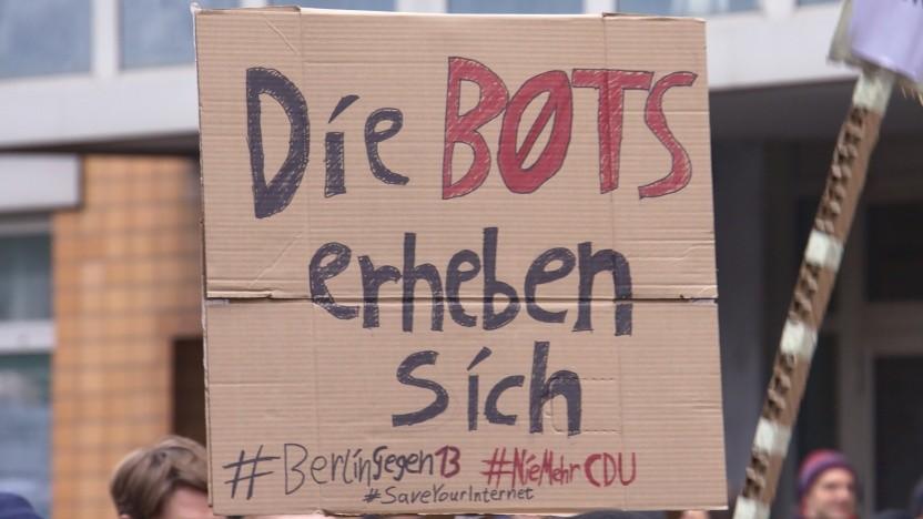 Proteste gegen die Reform am 3. März 2019 in Berlin