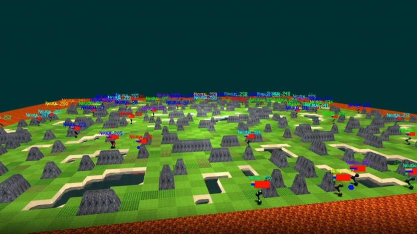 Neural MMO setzt viele KI-Agenten auf eine Karte.