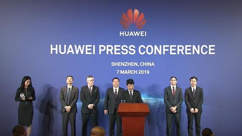 Die Huawei-Pressekonferenz am 7. März 2019