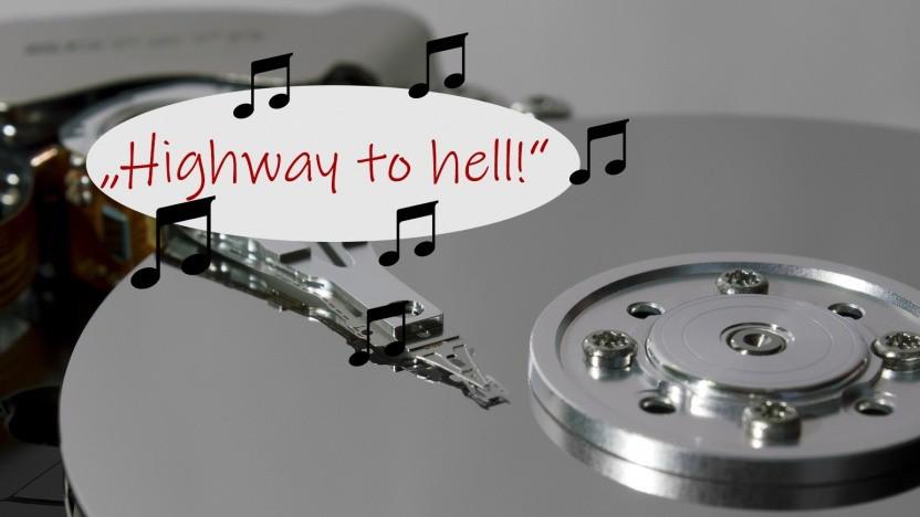 Musik kann durch Festplattenvibration erkannt werden.