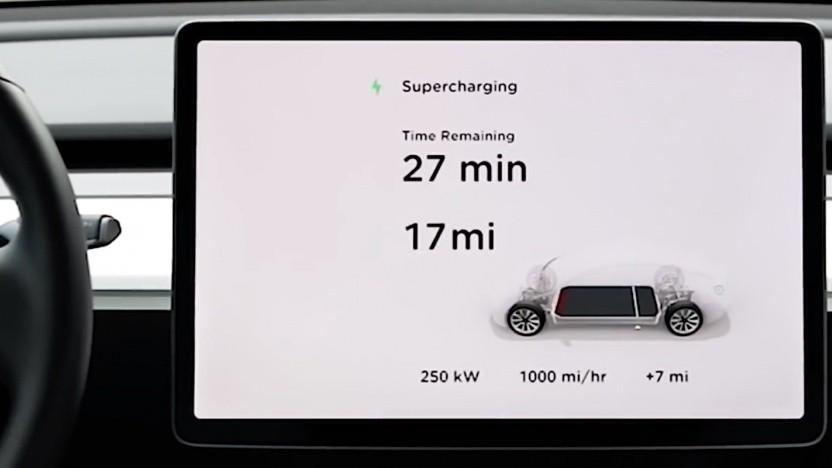 Ladevorgang am neue Supercharger V3