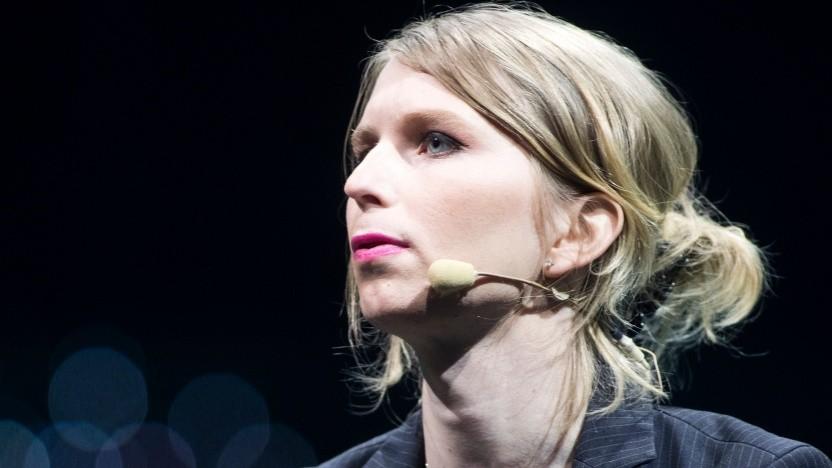 Chelsea Manning im Jahr 2018 auf einer Konferenz in Kanada